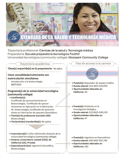 Academic Pathway flyer & brochure page - Spanish